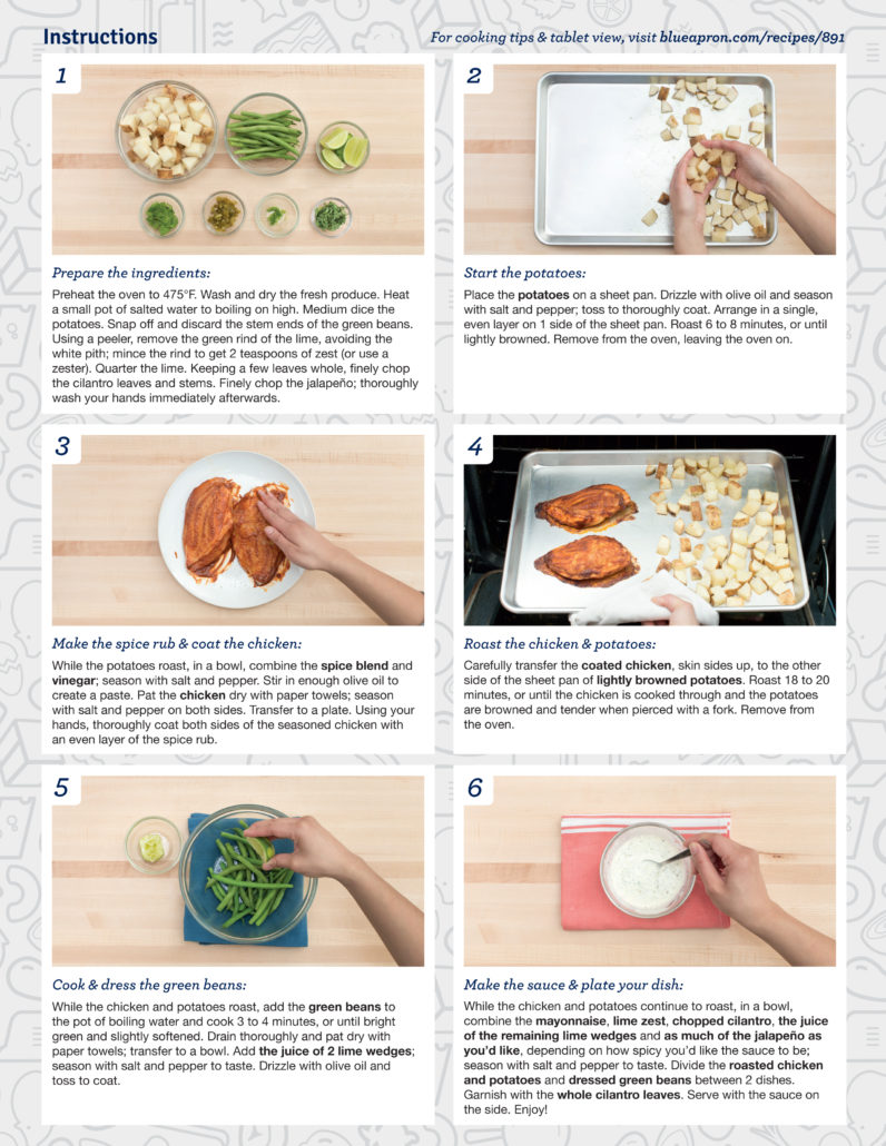 Blue apron chicken recipes